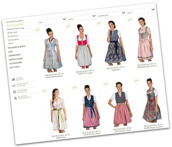 How to buy a dirndl online for oktoberfest, tips and advice