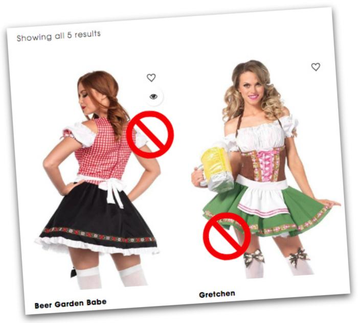 Don't buy a dirndl costume when you buy a dirndl online