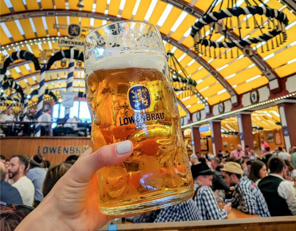 Oktoberfest party beer: What kind of beer to serve at your oktoberfest party   Lowenbrau mass at Oktoberfest in Munich, Germany #oktoberfest #munich #germany #beer #festival #mywanderlustylife