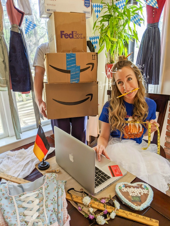 Buying a dirndl online with a Macbook