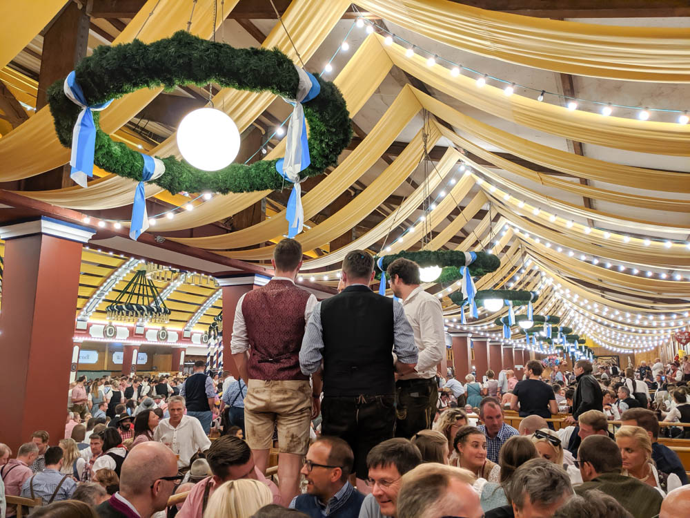 How to decorate for an Oktoberfest party at home: Lowenbrau tent