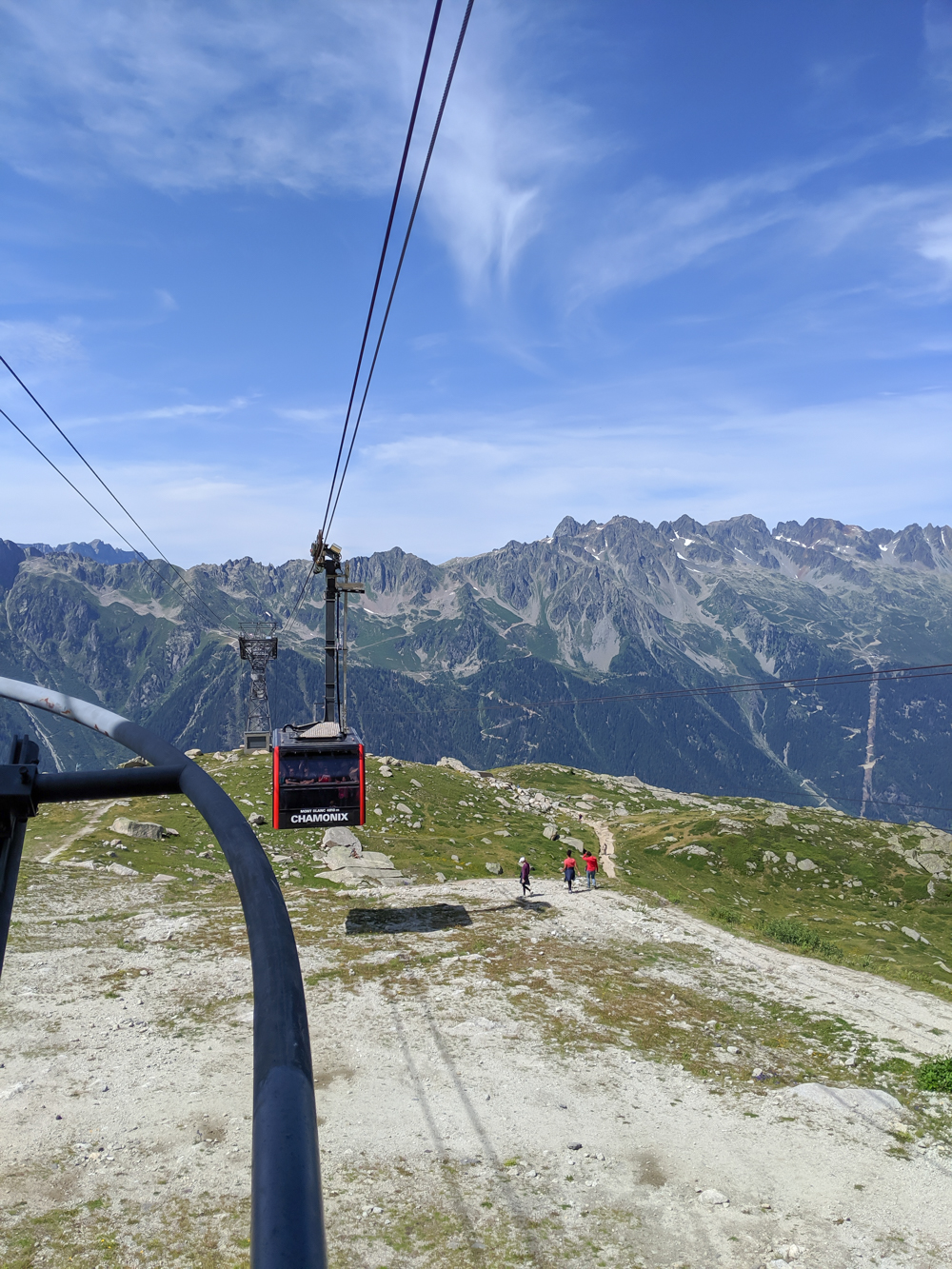 Aiguille du Midi summer visitor's guide, Chamonix, France: hikers leaving Plan de l'Aiguille