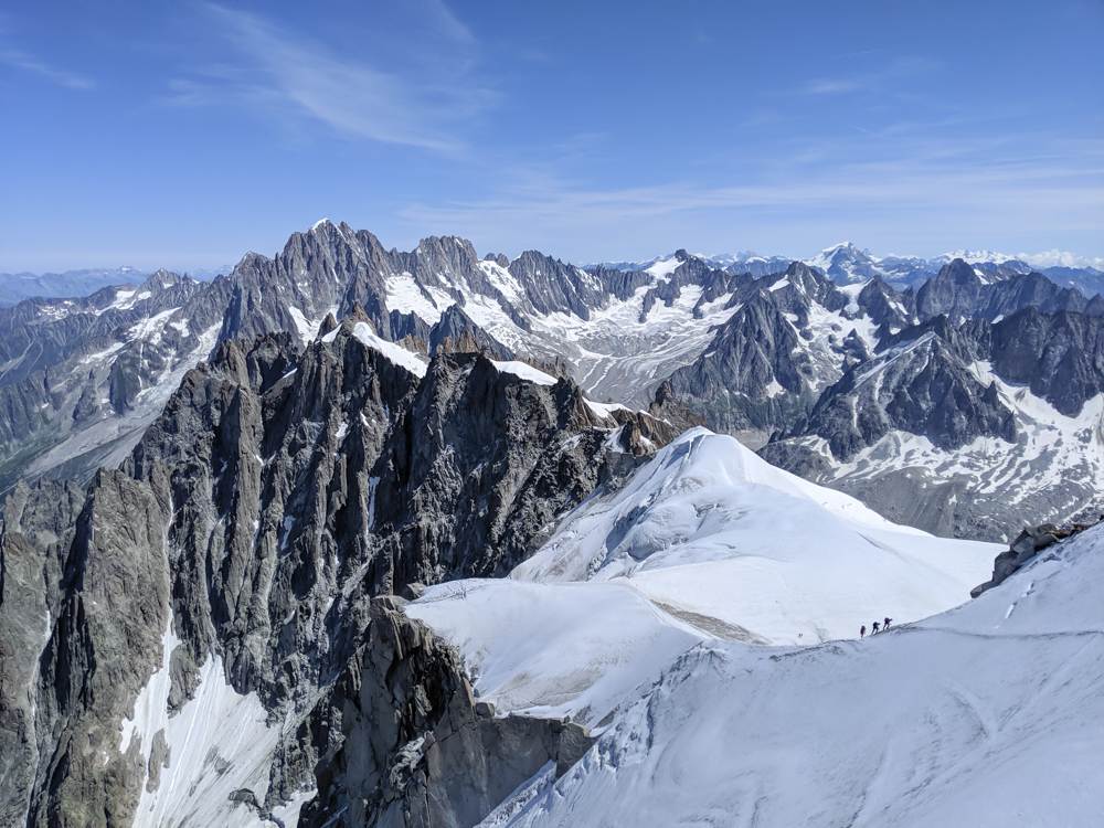 Aiguille du Midi summer visitor's guide, Chamonix, France: mountain views