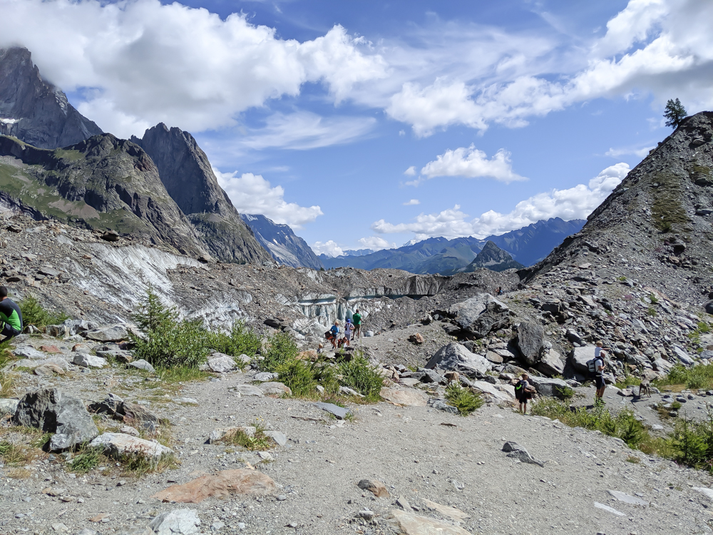 Day trip to Courmayeur, Italy from Chamonix, France / best day hike from courmayeur, val veny, glacier miage