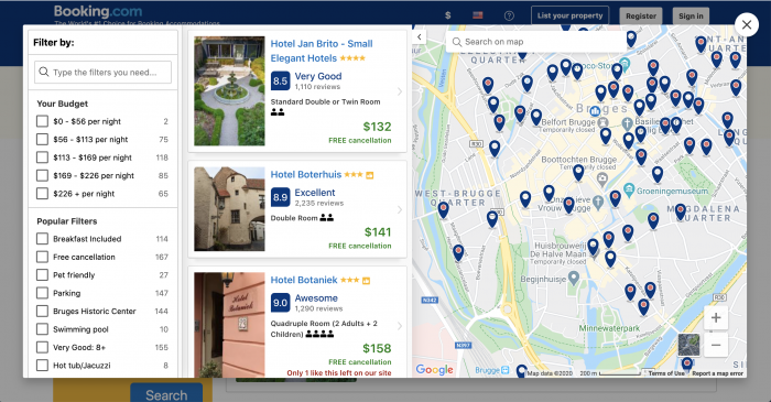 How to find the perfect hotel using Booking.com map view | Tips for planning quick trips
