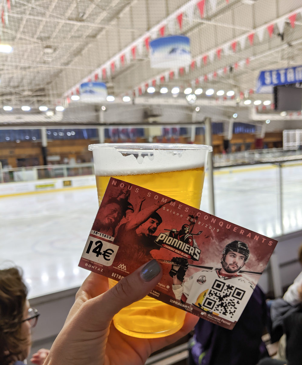 Awesome things to do in Chamonix in the summer: Alpine bucket list / Chamonix Pionniers hockey game and beer