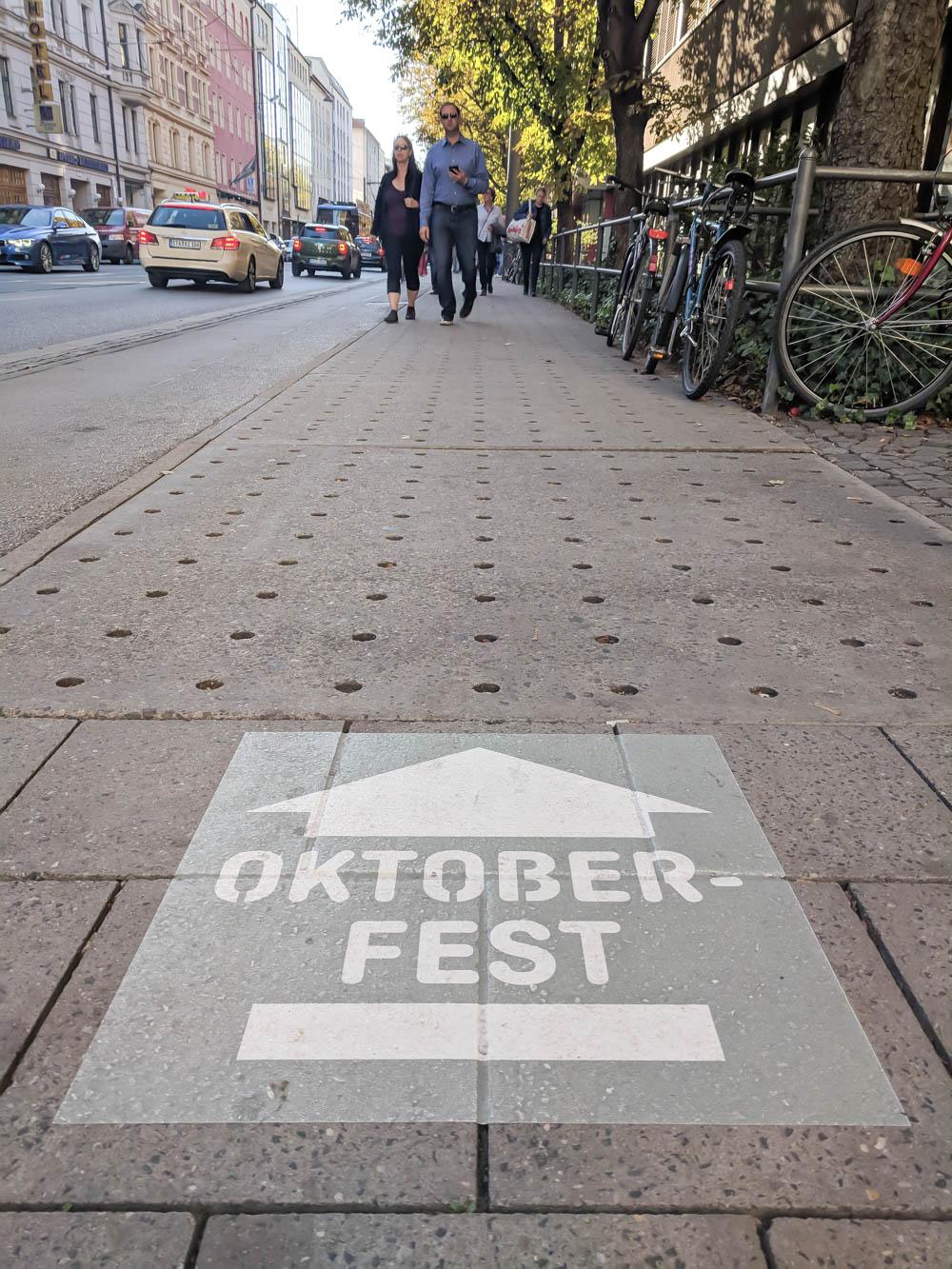 Follow me to Oktoberfest signs