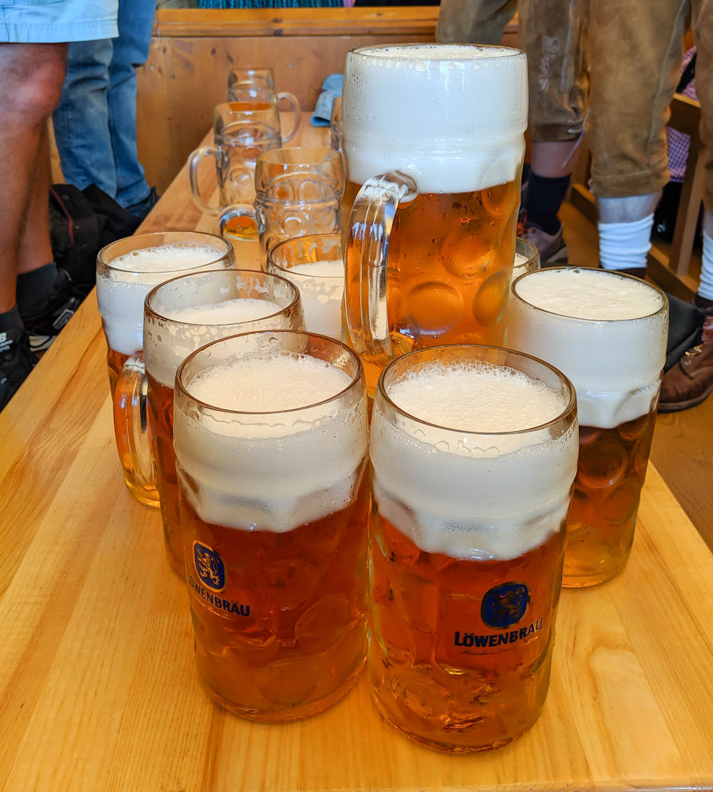 Oktoberfest party beer: What kind of beer to serve at your oktoberfest party   Lowenbrau beers in Munich, Germany