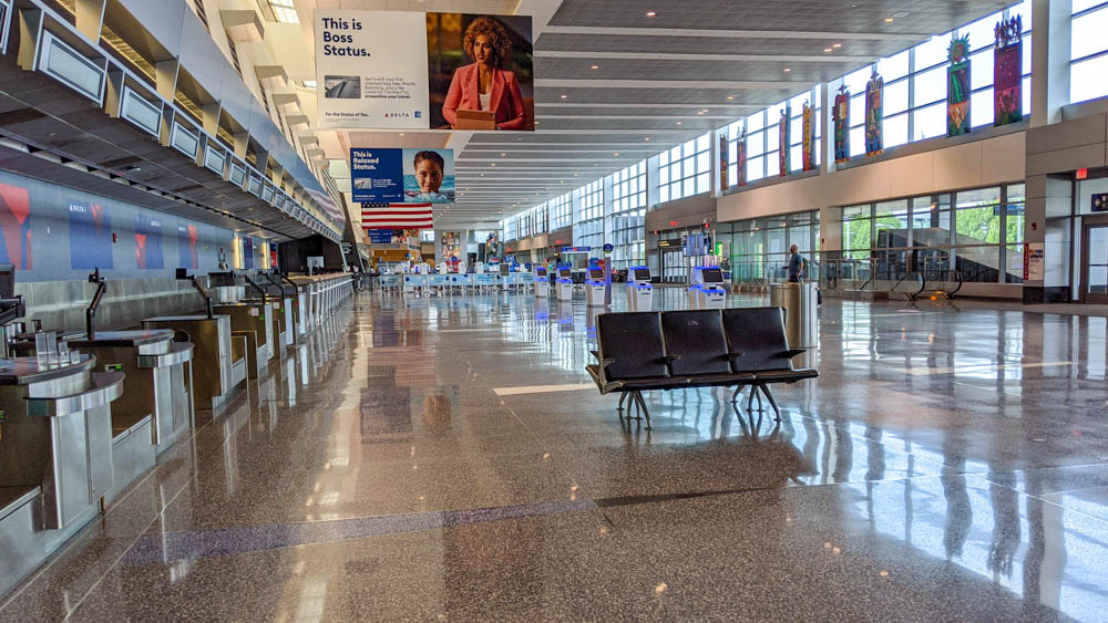 Empty airport terminal