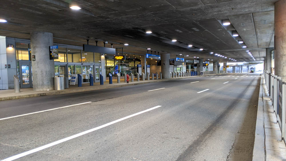 Empty Boston Logan airport during the pandemic