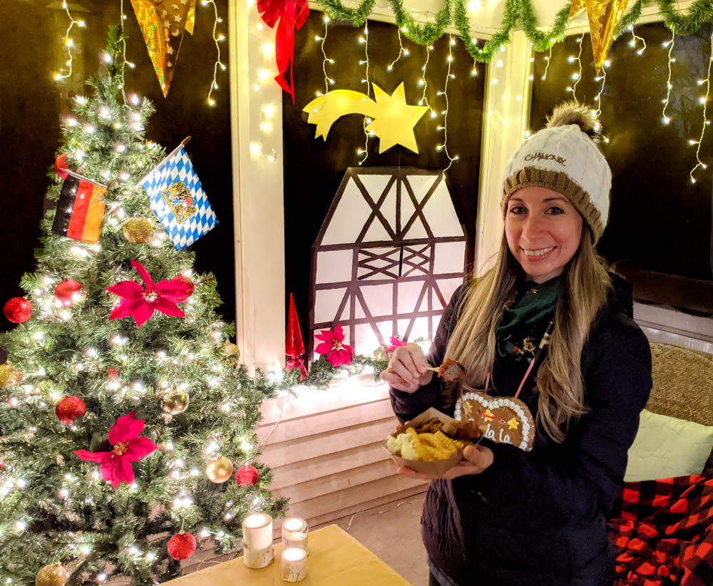 German Christmas market foods and drinks you can enjoy at home (with recipes) | eating currywurst and fries