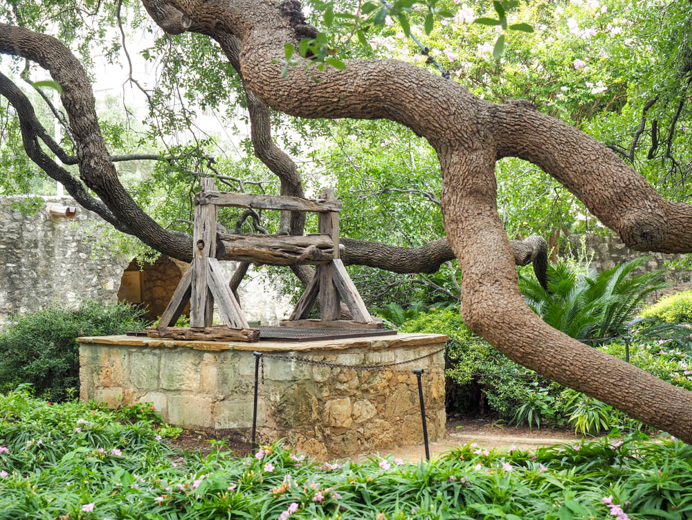 old well outside the historical sites in san antonio texas