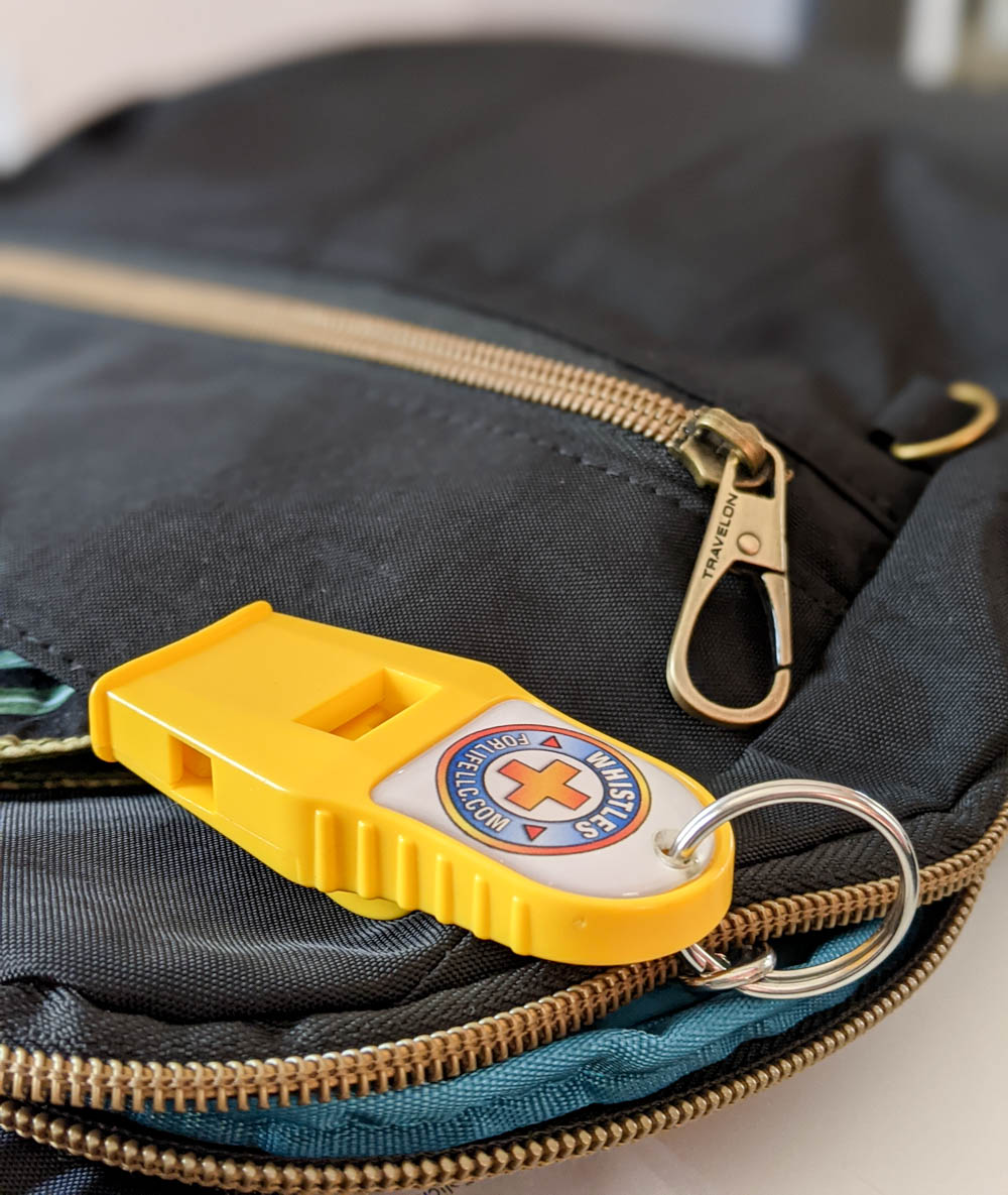 safety whistle | Must-Have Travel Safety Items: 17 Essentials for Your Travel Safety Kit | Travel health and safety | solo female travel safety