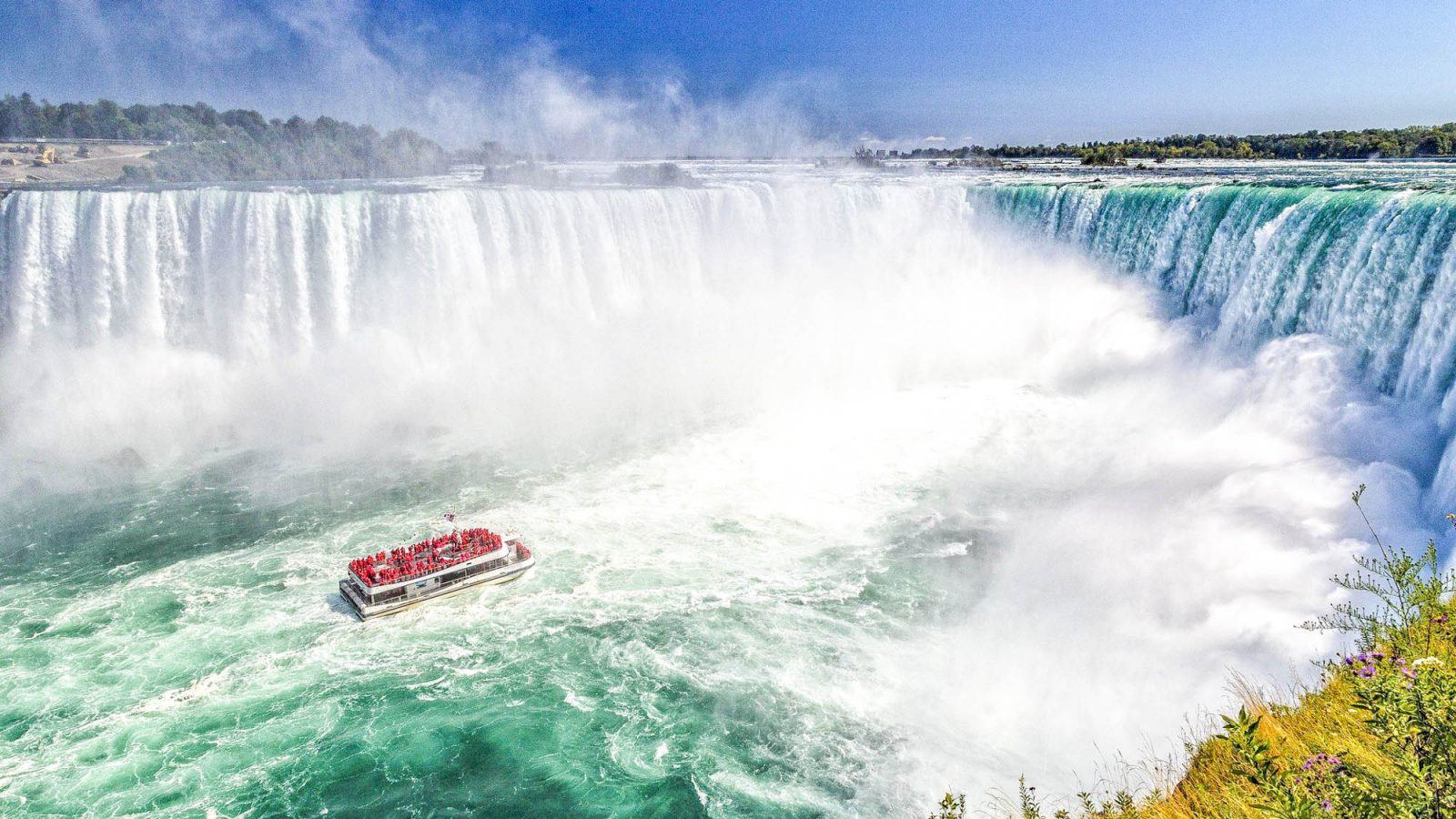 7 of the best niagara falls tours from new york, check out Niagara Falls from the American side, U.S. side. Maid of the Mist tour, jet boat tour, Rainbow Bridge, and more!