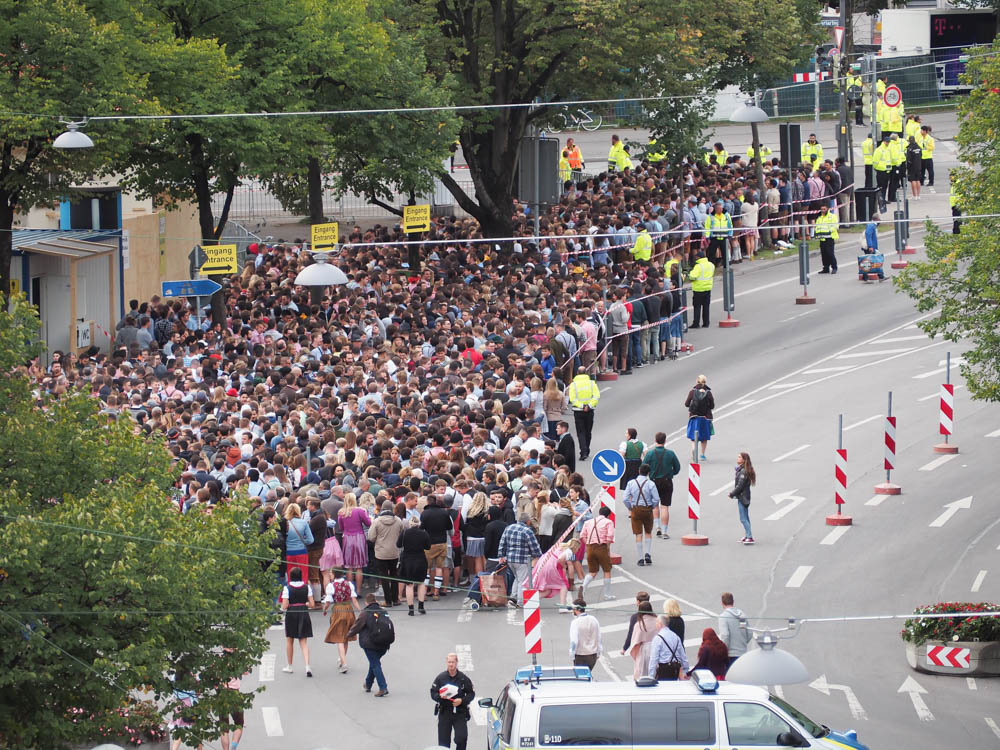 Crowds waiting to get in   Will Oktoberfest 2021 take place? Is Oktoberfest 2021 going to be canceled? All the info you need to know like what to do, how to plan ahead, official announcements out of Munich, Germany