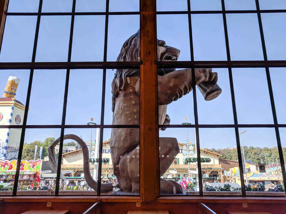 Löwenbräu Lion   Will Oktoberfest 2021 take place? Is Oktoberfest 2021 going to be canceled? All the info you need to know like what to do, how to plan ahead, official announcements out of Munich, Germany