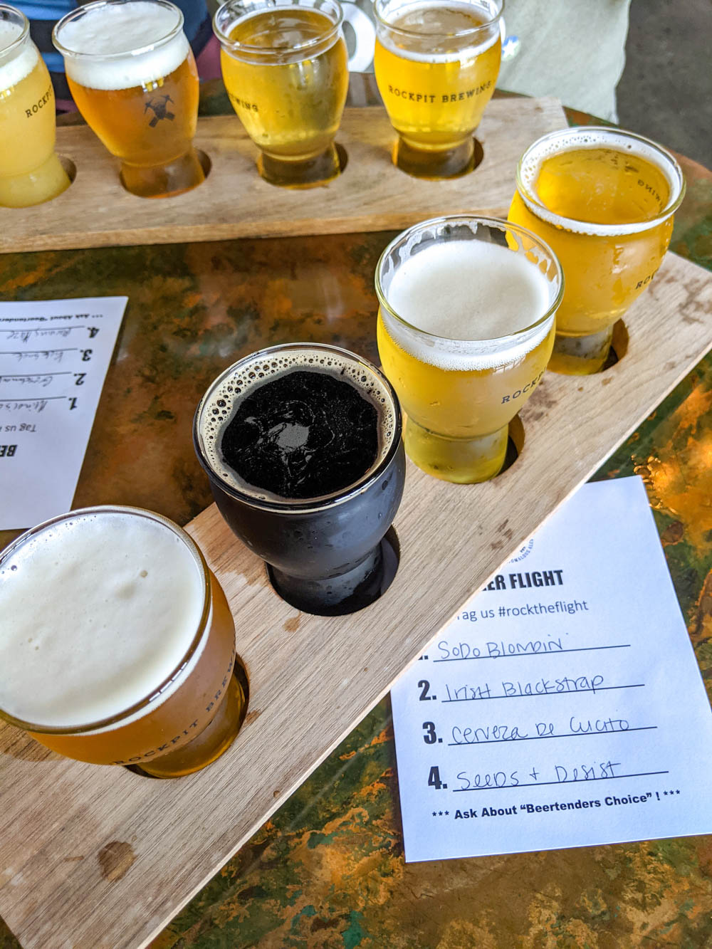 Beer flight at Rockpit Brewing | The Best Things to Do in Orlando Besides Theme Parks: Orlando, Florida for adults
