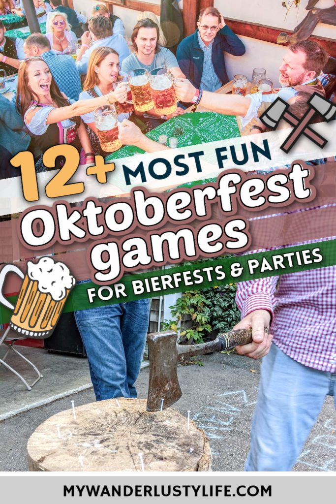 Best Oktoberfest Games for Fun & Hilarious Backyard Bierfests   Games like Hammerschlagen, Masskrugstemmen, pretzel-eating contests, stein-carrying races, board games, and more